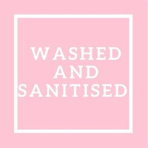 All items are washed and sanitised before sale